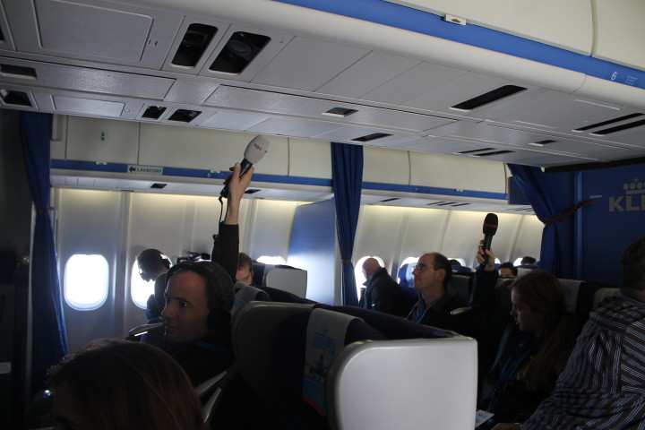 KLM Farewell MD-11 flight, business class cabin