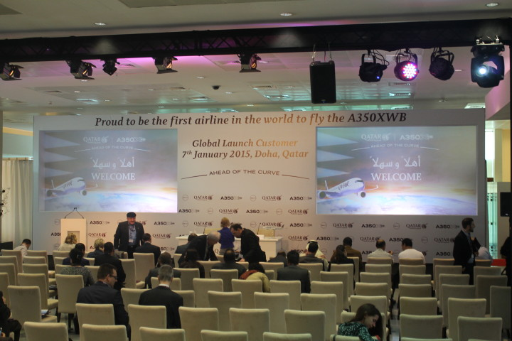 Qatar Airways Press conference Airbus A350 Doha