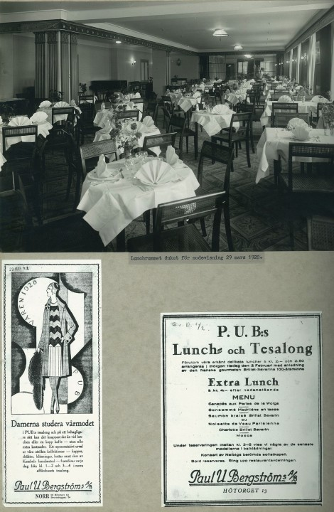 PUB-huset, lunch- och tesalong 1925