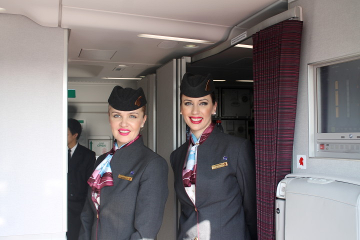 Qatar Airways Airbus A350 XWB crew