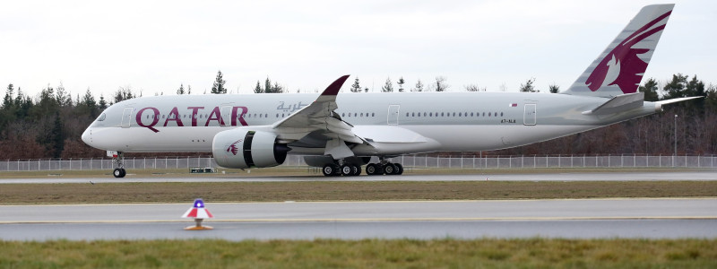 Qatar Airways Airbus A350 XWB in Frankfurt
