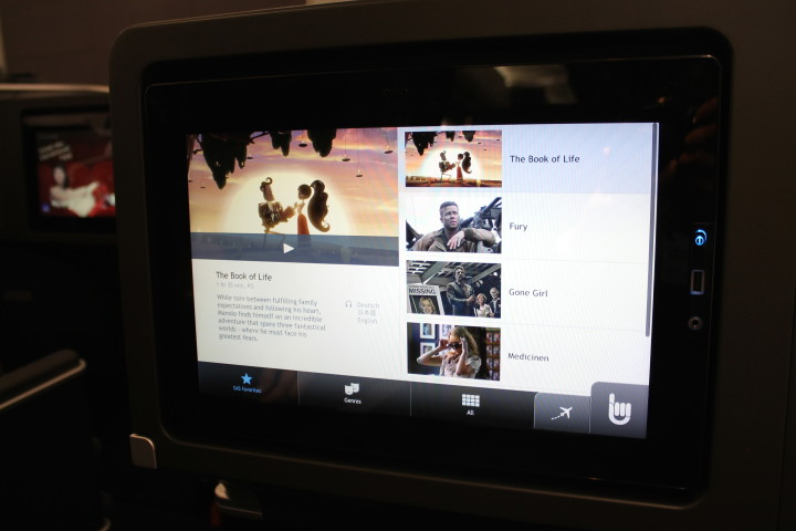 SAS new inflight entertainment system