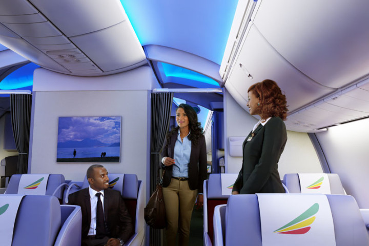 Ethiopian Airlines Business Class Boeing 787 Dreamliner