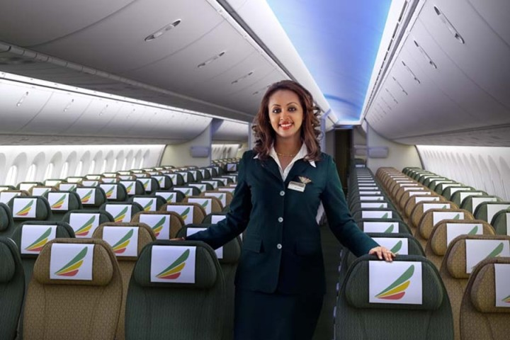 Ethiopian Airlines Economy Class Boeing 787 Dreamliner