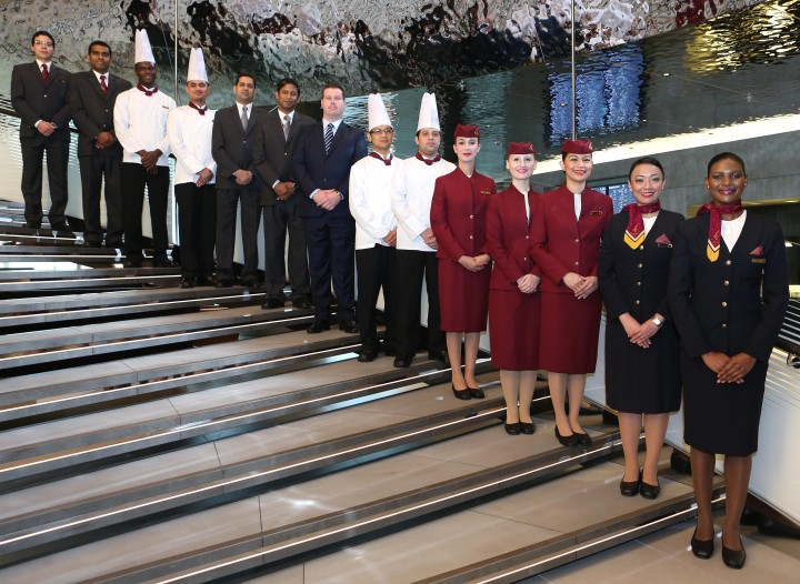 Qatar Airways Lounge staff