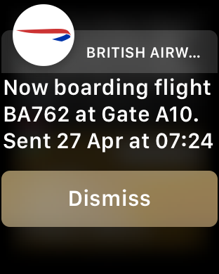 British Airways Apple Watch app