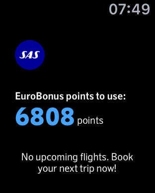 Apple Watch EuroBonus SAS App