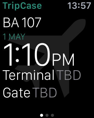 BA Apple Watch app