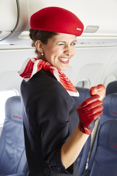 Air Berlin chocolate heart