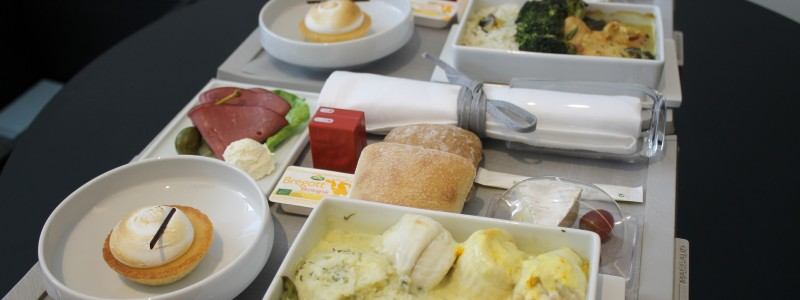 Air France new business class mediumhaul food
