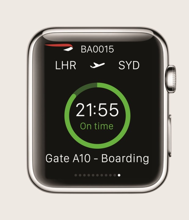 British Airways app Apple Watch