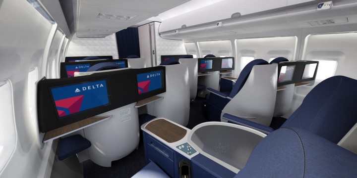 Delta Airlines Business Class Delta One Boeing 757