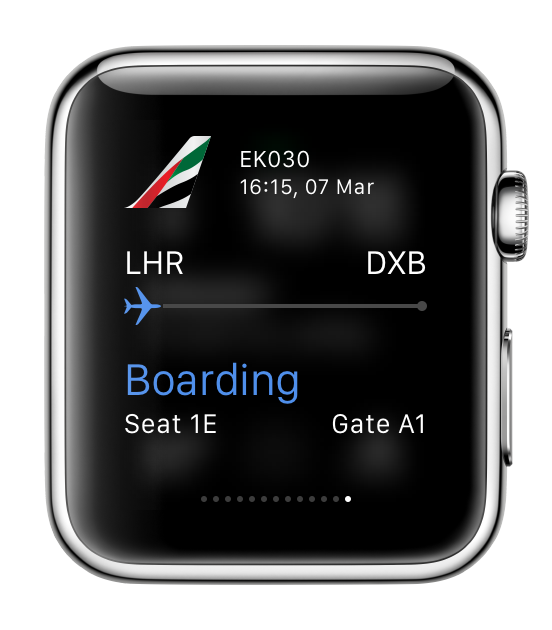Emirates app Apple Watch