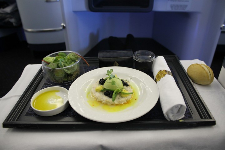 KLM new business class Amsterdam-New York JFK