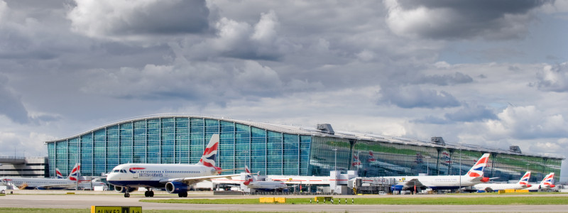 London Heathrow terminal 5 exterior British Airways