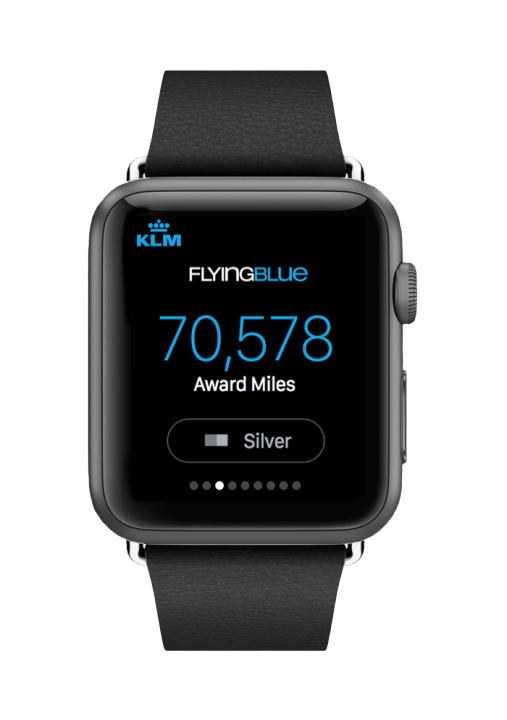 KLM Apple Watch app
