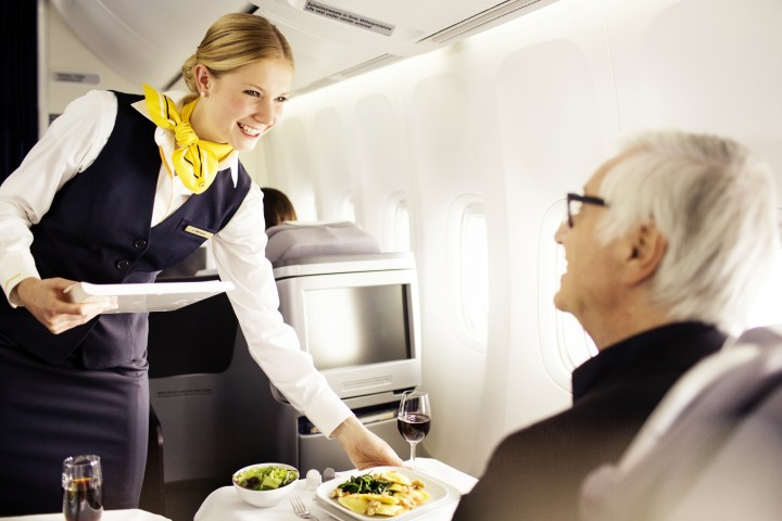 Lufthansa restaurangkoncept i business class