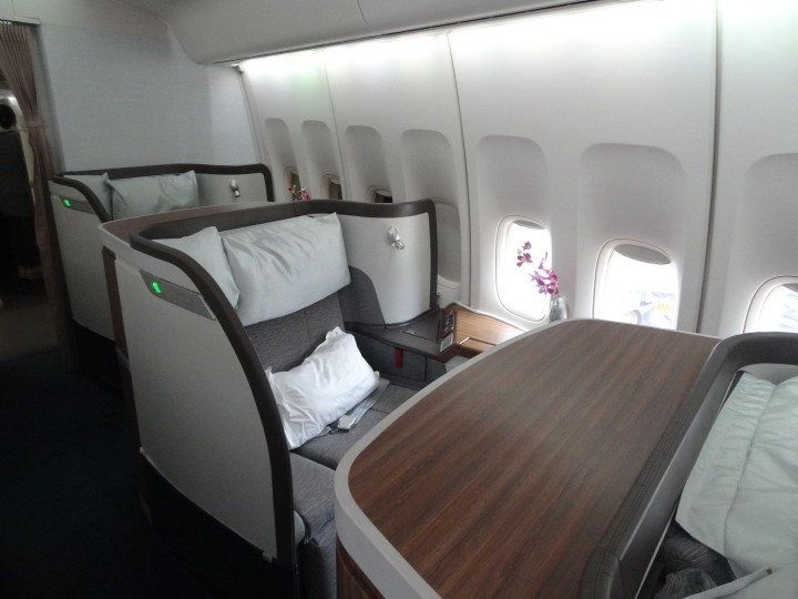 Cathay Pacific First Class Boeing 747