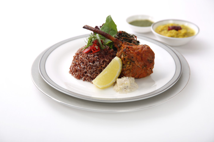 Baked Pistachio Crusted Lamb Chops with Fruit Yoghurt Salsa and Mint Chutney - By ICP Chef Sanjeev Kapoor