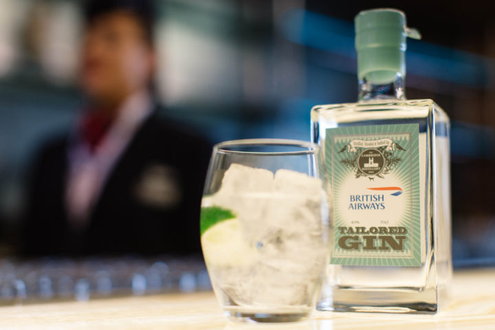 British Airways Limited Edition Gin  Taken: 10th November 2016 in the British Airways Concorde Lounge at Heathrow T5  Picture by: Stuart Bailey