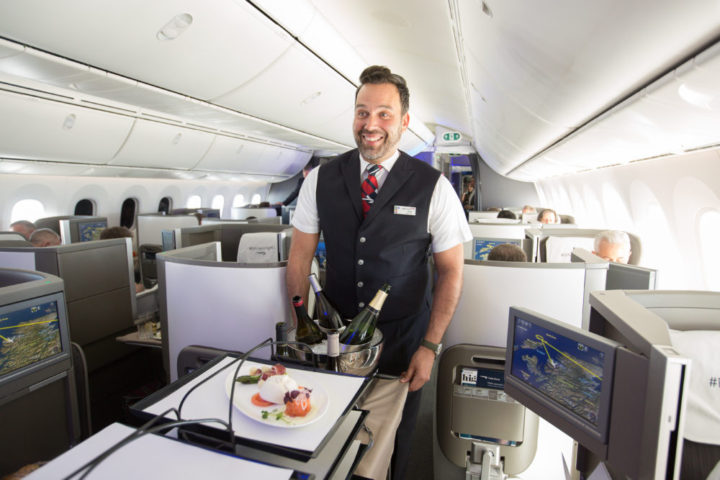 LONDON, UK:  New Club World products onboard a special flight on a 787-9, which also marked the opening of First Wing, London Gatwick and Boston Lounges with media and social media influencers between London Gatwick and Heathrow on 05 April 2017 (Picture by Nick Morrish/British Airways)