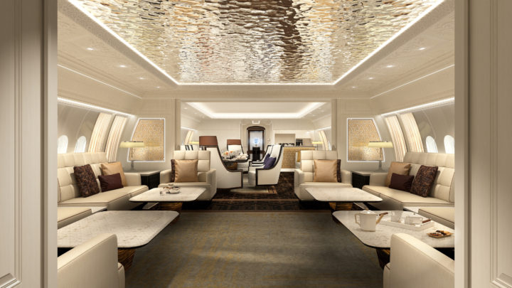 Jet Aviation is supporting the unveiling of Boeing Business Jets' new BBJ 777X at the Middle East Business Aviation Association (MEBAA) 2018 show with a VIP cabin concept.