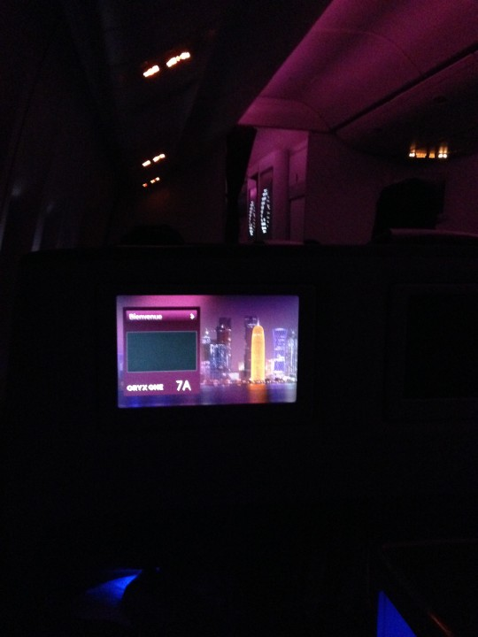 Kort nattflygning i business class med Qatar Airways