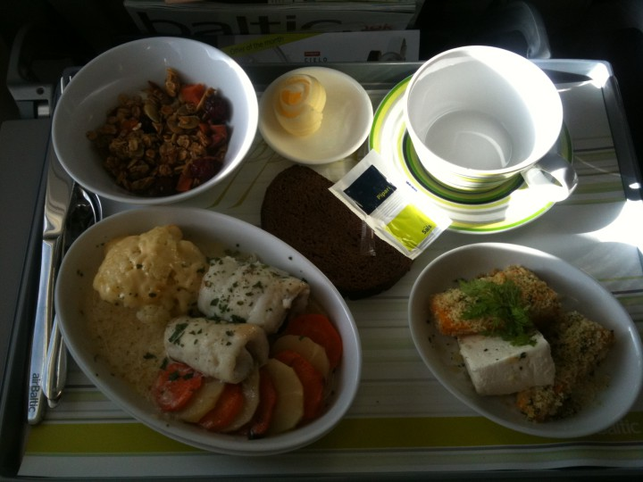 Air Baltic business class Riga till Amsterdam
