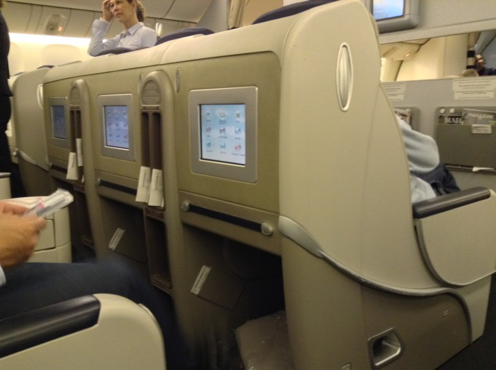 Air France Affaires (business class) Shanghai-Paris