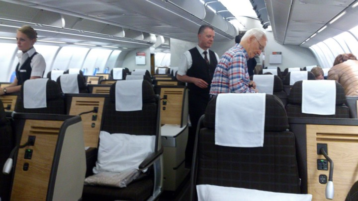 New York – Zürich med Swiss, cash-upgrade till Business class