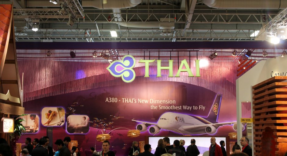 Thai Airways presenterar sin nya Airbus A380