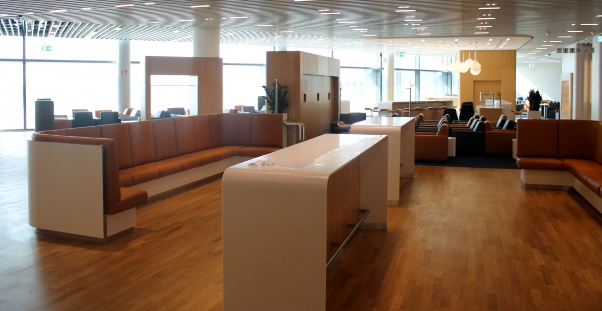 Nya Lufthansa Business Lounge i A-plus piren i Frankfurt