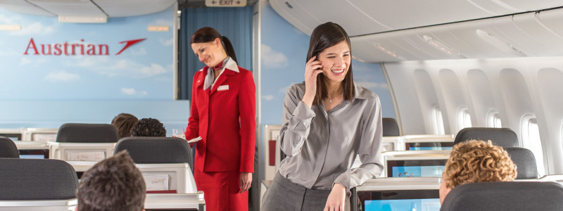 Austrian Airlines nya business class kabin