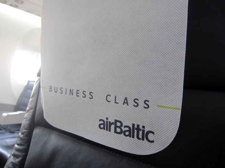 Air Baltic Business Class seat cover Dash-8