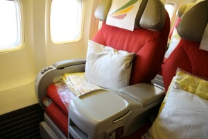 Ethiopian Airlines Business Class seat Boeing 757