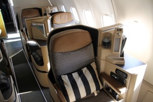 Etihad Business Class Pearl Business seat Airbus A330