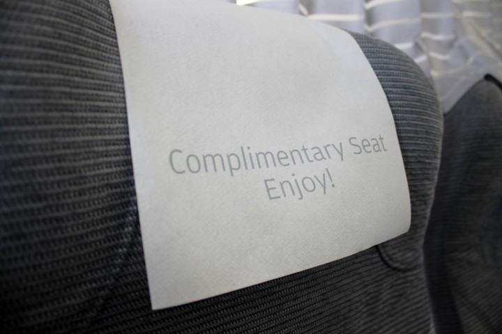 Finnair Business Class seat cover Airbus A320