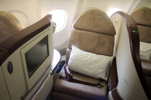 Jet Airways Business Class Première seat Airbus A330