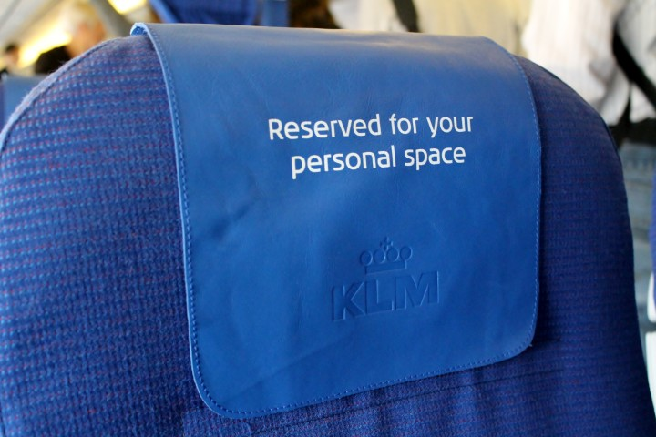 KLM Business Class seat cover Boeing 737