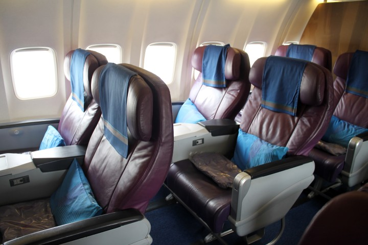 Malaysia Airlines Business Class cabin Boeing 737