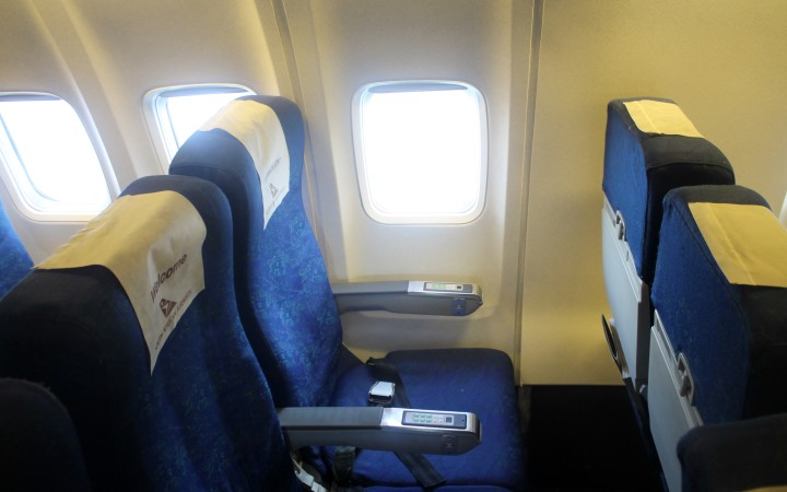 South African Airways SAA Economy Class seat Boeing 737