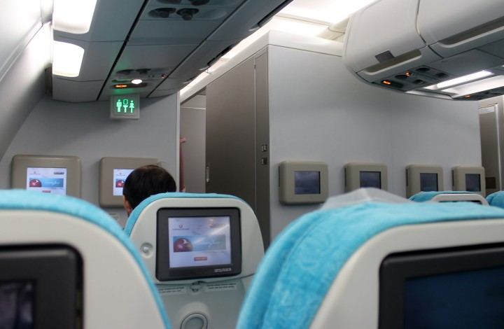 Turkish Airlines Economy Class cabin Airbus A340