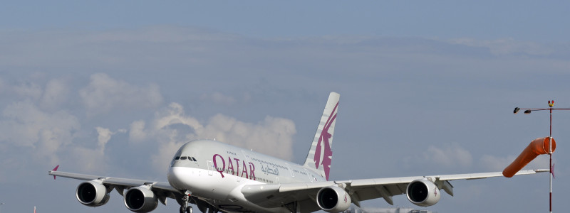 Qatar Airways Airbus A380 London Heathrow