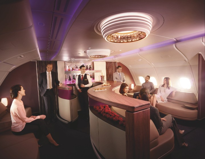 Qatar Airways First:Business bar Airbus A380