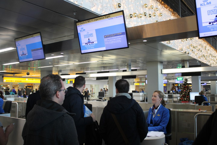 KLM MD-11 Farewell flight check-in