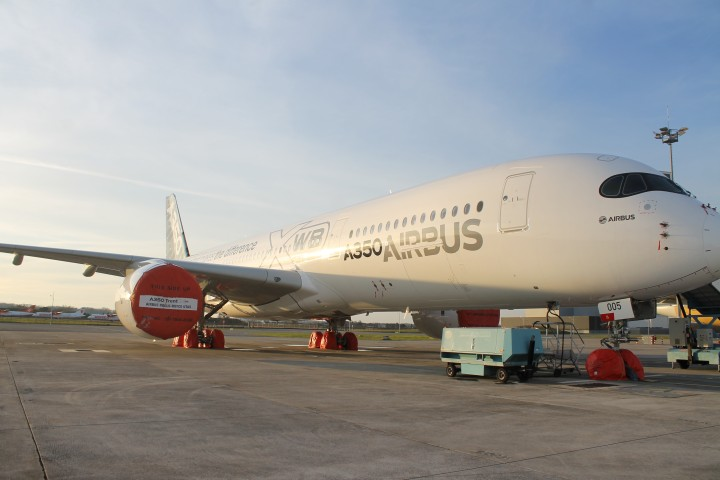 Airbus A350 in Toulouse
