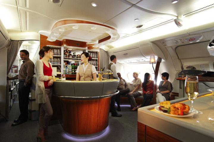 Emirates Airbus A380 business class bar
