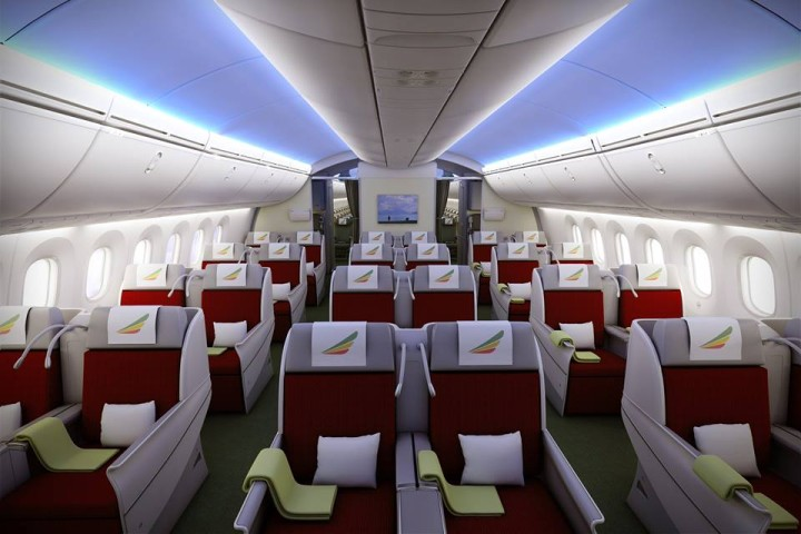 Ethiopian Airlines Boeing 787 Dreamliner Business Class Cloud 9