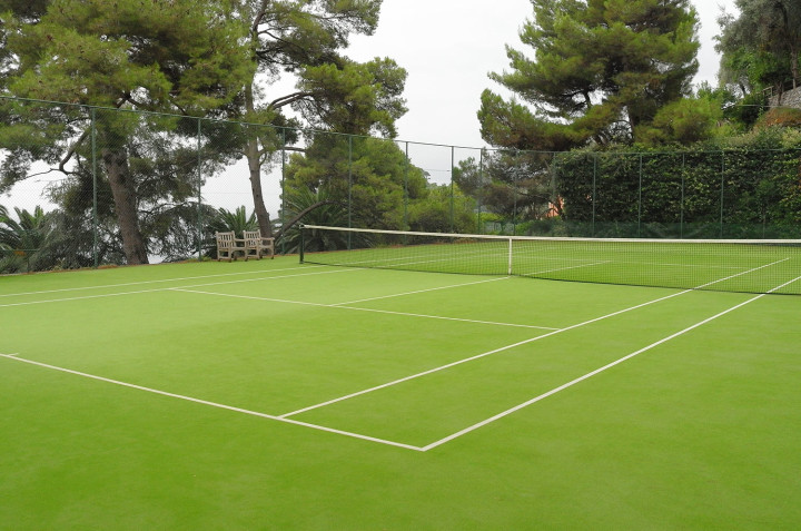 Hotel Splendido famous tennis court
