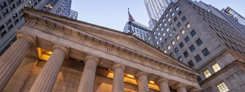 CTJ4C4 Federal Hall, Wall Street, Financial District, New York City, USA